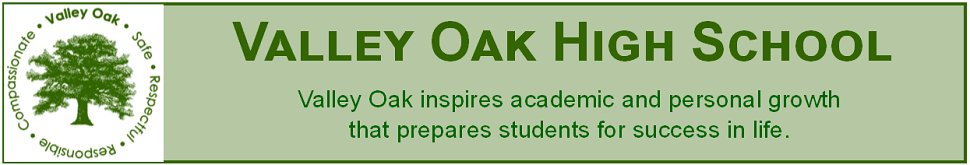 Valley Oak High School  Logo